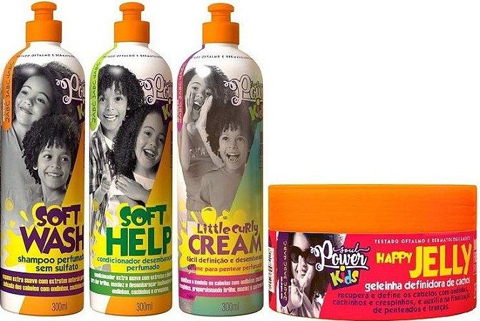 Soul Power Kids Kit Infantil Cachinhos Pefeitos 4 Produtos