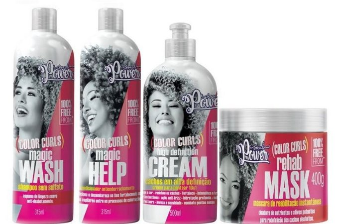 Soul Power Kit Completo Color Curls 4 Itens