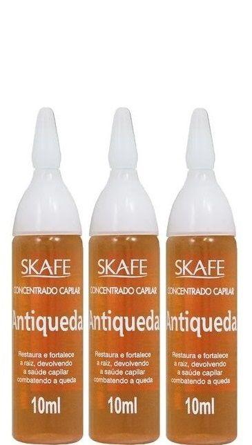 Skafe Concentrado Capilar Ampola Antiqueda 3 Unidades