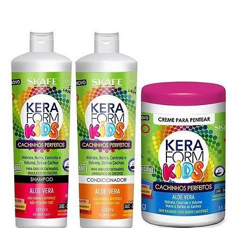 Skafe Keraform Kids Kit Completo Cachinhos Perfeitos 1kg