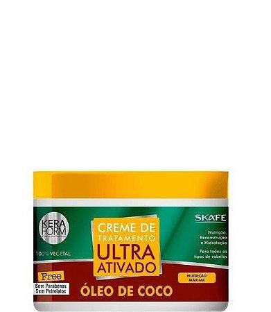 Skafe Creme de Tratamento Ultra Ativado Óleo de Coco 500g