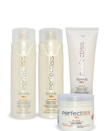 Perfect Liss Turmalina Pós Química Kit Manutenção Home Care 4 Itens