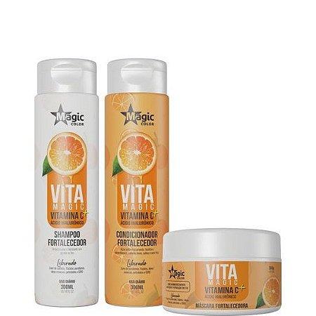 Magic Color Vita Magic Vitamina C + Ácido Hialurônico Kit 3 itens