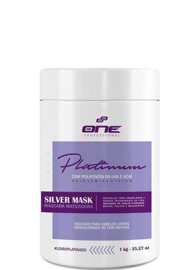One Professional Silver Mask Platinum Máscara Matizadora 1kg