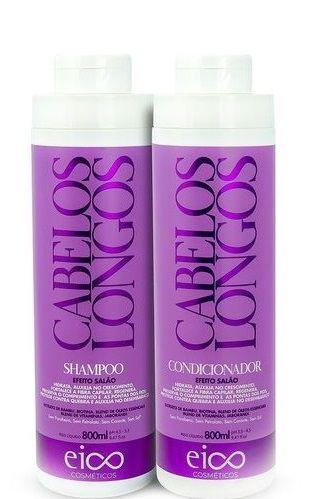 Eico Kit Cabelos Longos Shampoo e Condicionador Efeito Salão 2x800ml