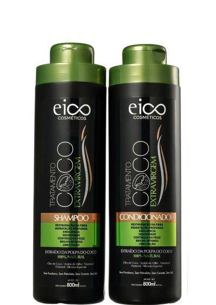 Eico Tratamento Óleo de Coco Shampoo e Condicionador 2x800ml