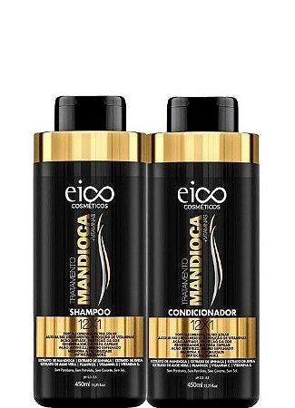 Eico Shampoo e Condicionador Tratamento Mandioca 2x450ml