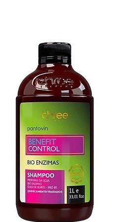Three Therapy Pantovin Shampoo Benefit Control Bio Enzimas 1 Litro