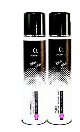 Adele Liss Kit Shampoo e Condicionador Matizador Blond e Black Platinum 2x300ml