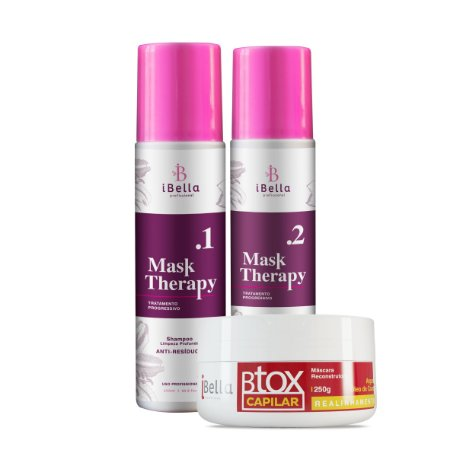 Progressiva Mask Therapy 2x250ml+Btox Capilar iBella 250g+Brinde