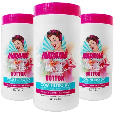 Bottox Capilar Madame Hair com Filtro Uv 3x1Kg