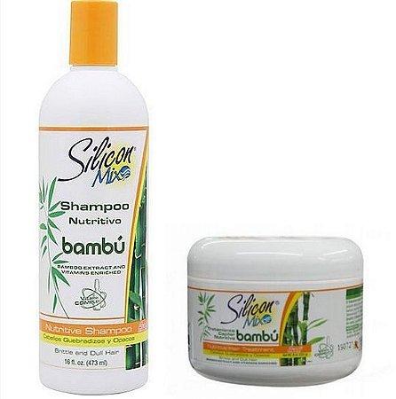 Kit Silicon Mix Bambu Shampoo 473ml + Mascara225g