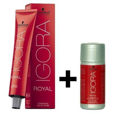 Coloração Igora Royal 8.77 Louro Claro Cobre Extra + Ox 30 Vol 60ml