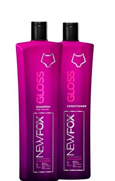 Escova Progressiva New Fox Gloss Kit 2x1000ml - Original