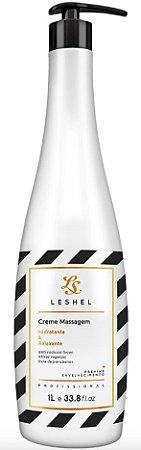 Creme Hidratante e Relaxante Leshel Profissional 1000ml + Brinde