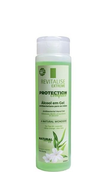 Revitalise Protection Álcool em Gel Antibacteriano para as Mãos 300ml
