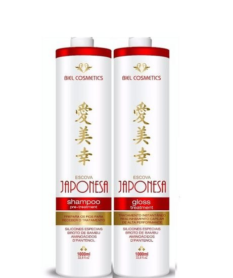 Escova Progressiva Japonesa Biel Cosmeticos 2x1Litro