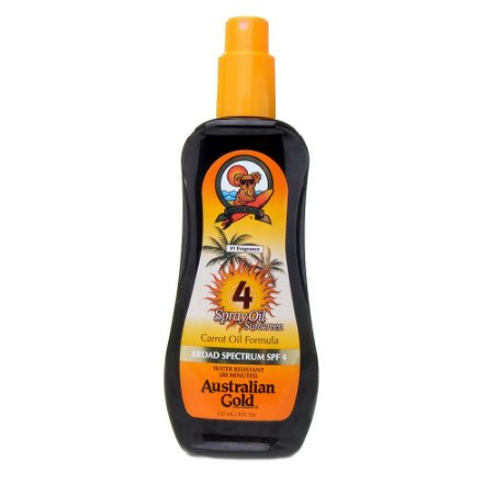 Australian Gold Bronzeador Spray Oil Suscreen FPS 4 Carrot OIL 237ML