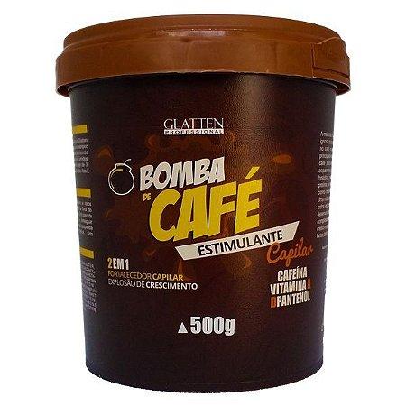 Glatten Bomba de Café Hidratação de Cafe e Crescimento Capilar 500g