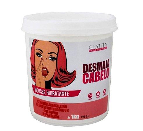Glatten Desmaia Cabelo Mascara Hidratante 1kg