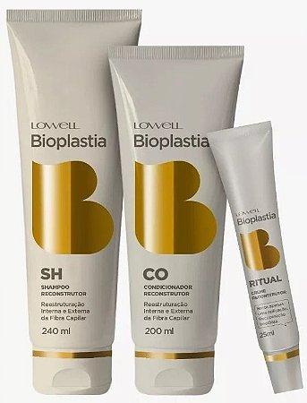 Lowell BioPlastia Capilar Kit Home Care (3 Produtos)