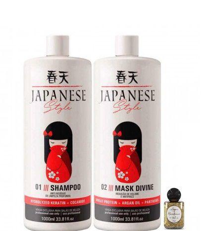 Escova Progressiva Japonesa Style Japanese 2x1litro + Óleo