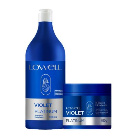 Lowell Kit Violet Platinum Shampoo e Máscara Hidratante (2 itens)
