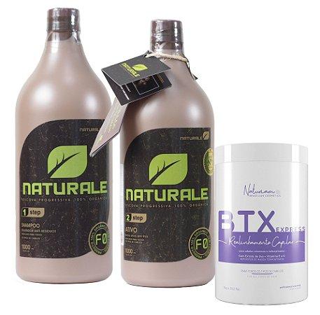 Naturale Progressiva Organica 2x1Litro +Botox Sem Formol Naturiam 1kg