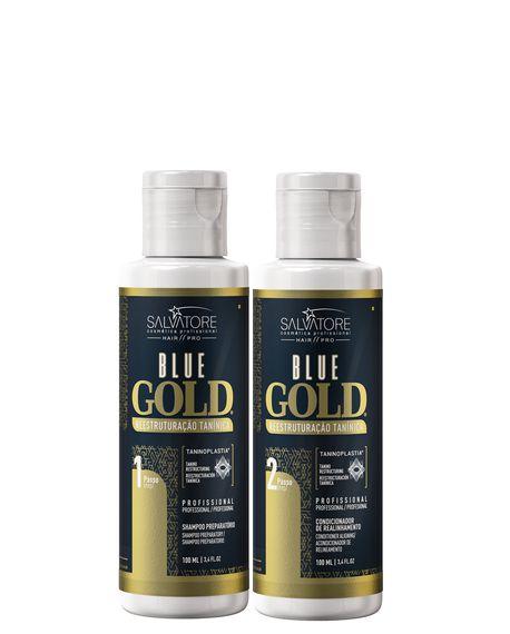 Salvatore Blue Gold Escova Progressiva 2x100ml + Saches Oka Salvatore