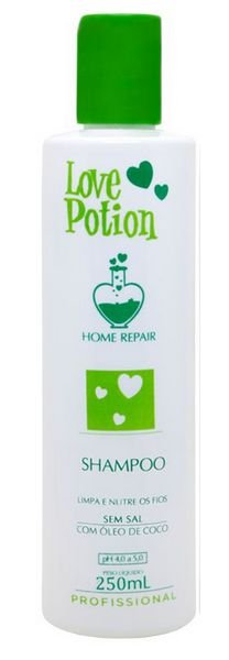 Love Potion Shampoo de Óleo de Coco Home Repair 250ml