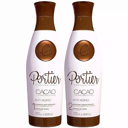 Escova Progressiva Portier Cacao Fine Kit 1 Litro OUTLET