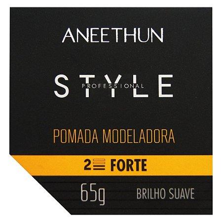 Aneethun Style Pomada Modeladora Brilho Suave 65g