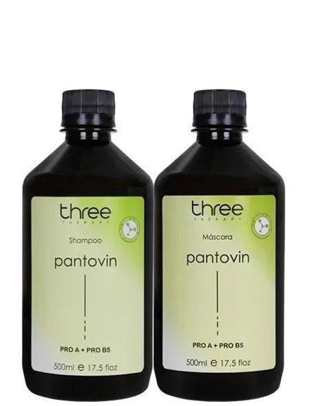 Three Therapy Shampoo e Máscara Pantovin 2x500ml