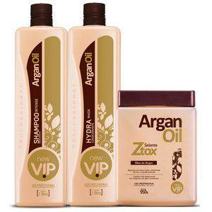 Escova Progressiva e Botox Vip Argan Professional 3x1litro + Brinde