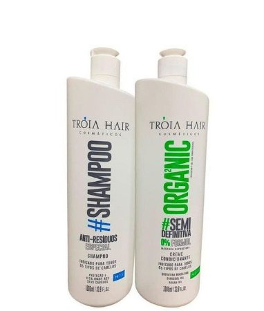 Tróia Hair Escova Progressiva Semi Definitiva Sem Formol 2x1l OUTLET