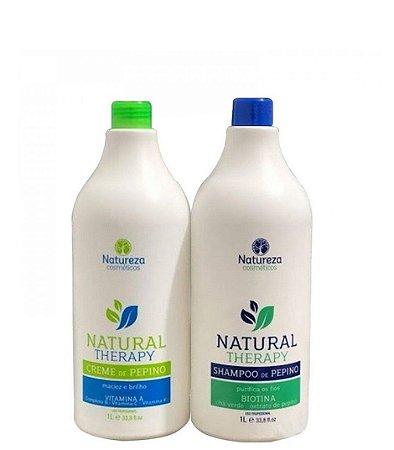 Natureza Cosméticos Natural Therapy Shampoo e Creme de Pepino 2x1L