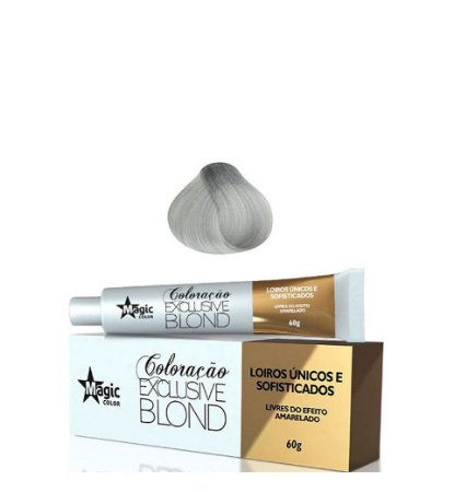 Magic Color Coloração Exclusive Blond Loiro Extra Claro Cinza Intenso Platinado 12.11 - 60g
