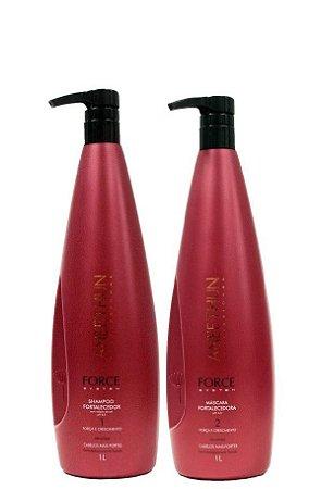 Aneethun Force System Shampoo e Máscara Fortalecedora 2x1 Litro