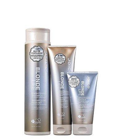 Joico Blonde Life Brightening Kit - Shampoo + Máscara + Condicionador