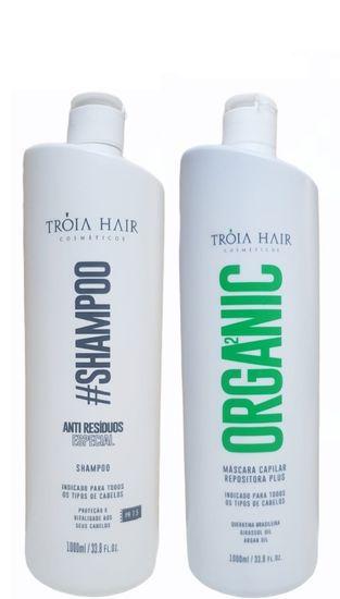 Tróia Hair Escova Progressiva Semi Definitiva Sem Formol 2x1l