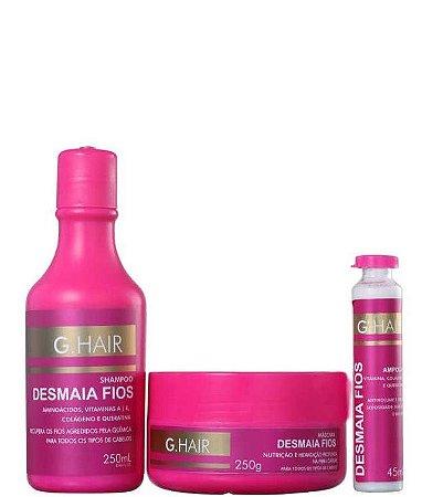 G. Hair Desmaia Fios Kit Hidratação Profunda 3 Produtos