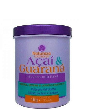 Natureza Cosméticos Máscara Nutritiva Açaí e Guaraná 1kg + Brinde