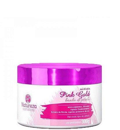 Natureza Cosméticos Máscara Pink e Gold Banho de Pérola 300g