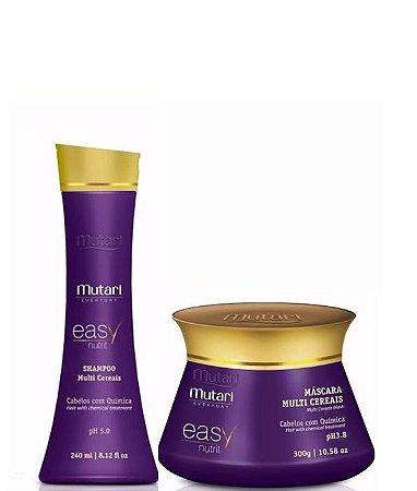 Mutari Multi Cereais Shampoo 240ml + Mascara 300g Easy Nutrit