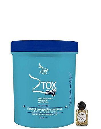 Zap Ztox Matiz Máscara Redução Capilar Matizadora 950g + Óleo
