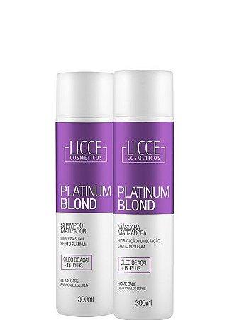 Licce Cosméticos Shampoo e Máscara Matizadora Platinum Blond 2x300ml