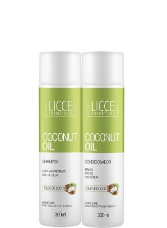Licce Cosméticos Coconut Oil Shampoo e Condicionador 2x300ml