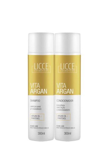 Licce Cosméticos Vita Argan Shampoo e Condicionador 2x300ml