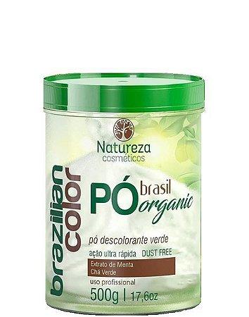 Natureza Cosméticos Pó Descolorante Verde Brazilian Color 500g
