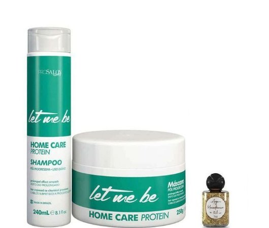 Let Me Be Home Care Protein Kit Shampoo 240ml + Máscara 250g + Óleo Argan